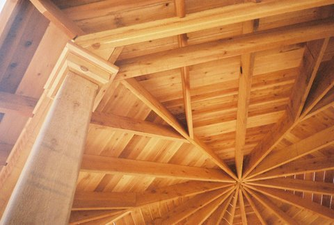 Exposed Wood Ceiling